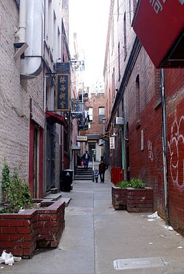 Chinatown Alley Art Print by Sonja Anderson