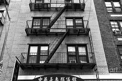 Photograph - Chinatown Apartment Mono by John Rizzuto