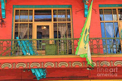 Photograph - Chinatown Balcony by Jeanette French