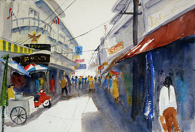 Painting - Chinatown, Bangkok by Tom Simmons