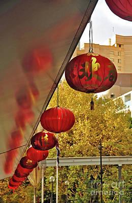 Photograph - Chinatown - Chinese Lanterns by Kaye Menner