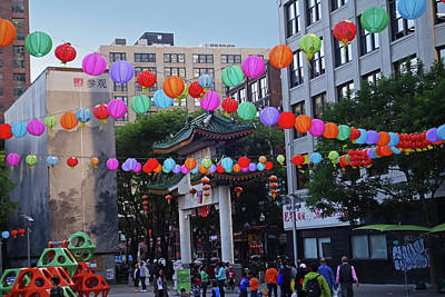 Photograph - Chinatown Colorful Lanterns Boston Ma by Toby McGuire