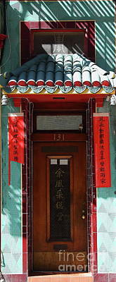 Photograph - Chinatown Door In San Francisco California 7d7406long by San Francisco Art and Photography