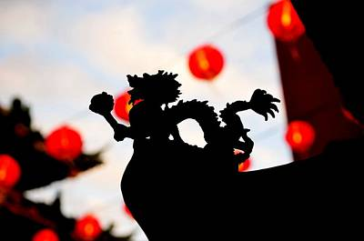 Photograph - Chinatown Dragon by Dean Harte
