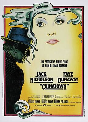 Jack Nicholson Digital Art - Chinatown Film Poster by Georgia Fowler
