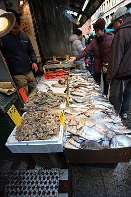 Photograph - Chinatown Fish Market by Mary Haber