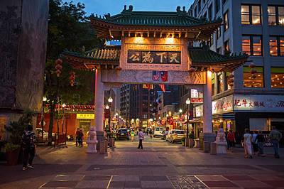 Photograph - Chinatown Gate Boston Ma by Toby McGuire