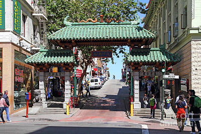Photograph - Chinatown Gate On Grant Avenue In San Francisco 7d7193 by San Francisco Art and Photography
