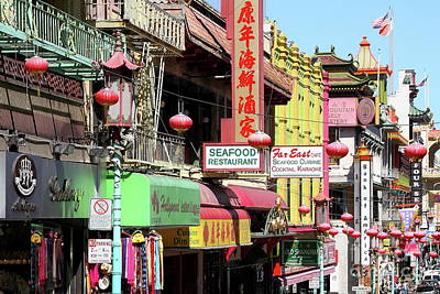 Photograph - Chinatown In San Francisco 7d7174 by San Francisco Art and Photography