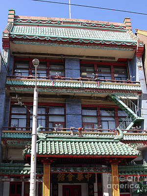 Photograph - Chinatown In San Francisco California 7d7381b by San Francisco Art and Photography