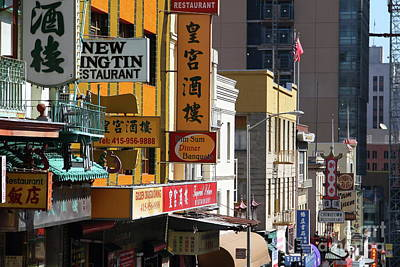 Photograph - Chinatown In San Francisco California 7d7391 by San Francisco