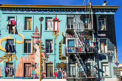Photograph - Chinatown Mural On Broadway by Bonnie Follett