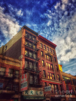 Photograph - Chinatown New York - Live Lobster Crab And Seafood - Old Buildings Of New York by Miriam Danar