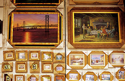Photograph - Chinatown Paintings Being Sold  by Jim Corwin