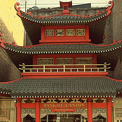 Drawing - Chinatown San Francisco - Architecture by Peter Potter