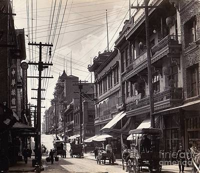 Photograph - Chinatown San Francisco 1922 Gabriel Moulin by Peter Gumaer Ogden Collection