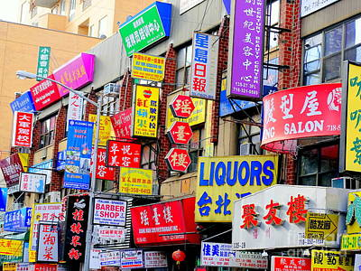 Photograph - Chinatown Signs by Ed Weidman