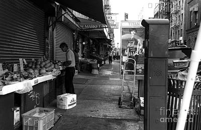 Photograph - Chinatown Street Mono by John Rizzuto