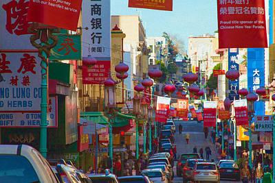 Photograph - Chinatown Street Scene by Bonnie Follett