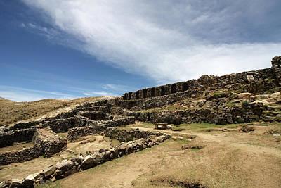 Photograph - Chincana Ruins On The Isla Del Sol by Aidan Moran
