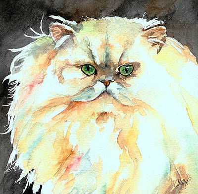 Painting - Chinchilla Cat by Christy Freeman Stark