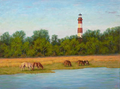 Painting - Chincoteague 7-21-16 by Joe Bergholm