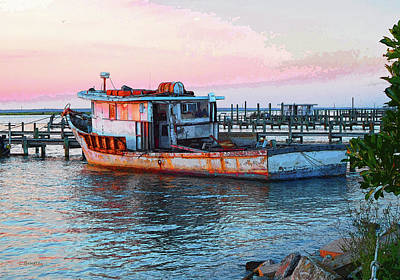 Chincoteague Fishing Boat Art Print
