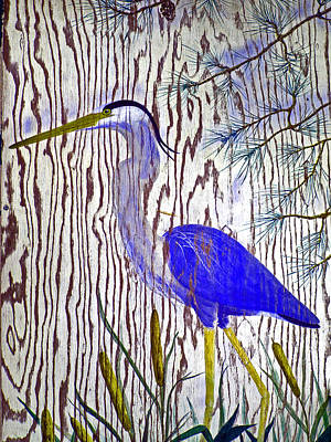 Painting - Chincoteague Heron by Kim