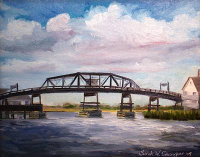 Painting - Chincoteague Island Bridge by Sarah Grangier