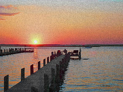 Chincoteague Island Sunset Art Print
