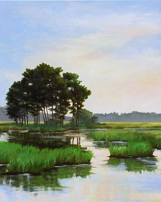 Painting - Chincoteague Marsh by Sarah Grangier
