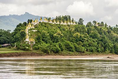 Photograph - Chindwin Stupas by Werner Padarin
