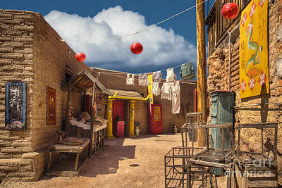 Chinese Alley At Old Tucson Art Print by Priscilla Burgers