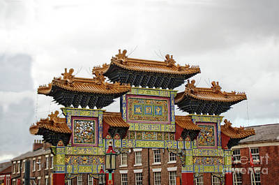 Photograph - Chinese Arch In Liverpool's Chinatown by Doc Braham