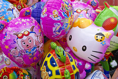Hello Kitty Photograph - Chinese Balloons by Michele Burgess