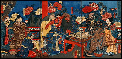 Board Game Photograph - Chinese Baron Kan-u 1853 by Padre Art