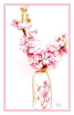 Art Print featuring the digital art Chinese Bouquet by Marsha Heiken