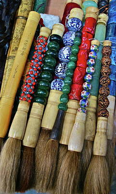 Photograph - Chinese Brushes by Dorota Nowak