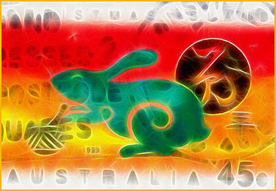 Chinese Calender Year Of The Rabbit Art Print