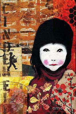 Mixed Media - Chinese Cinderella  by Annalisa Loevenguth
