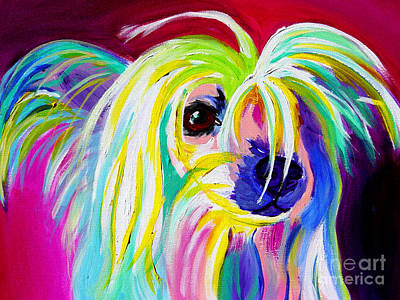 Dawgart Painting - Chinese Crested - Fancy Pants by Alicia VanNoy Call