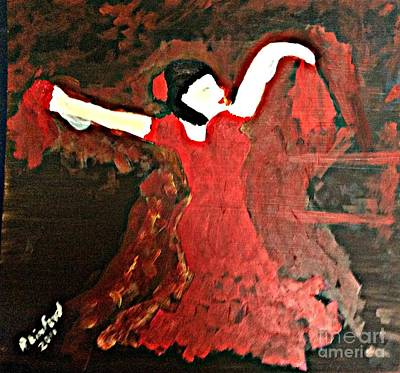 Painting - Dancer In Red by Richard W Linford