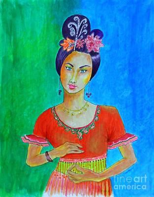 Chinese Dancer -- The Original -- Portrait Of Asian Woman Art Print