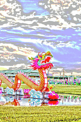 Digital Art - Chinese Dragon 2 by David Stasiak