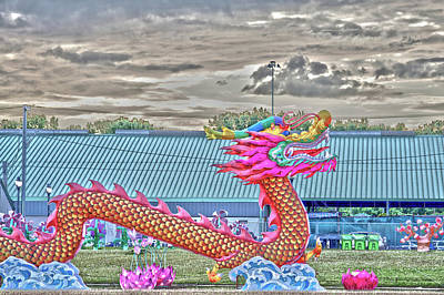 Digital Art - Chinese Dragon by David Stasiak
