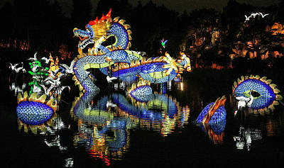 Photograph - Chinese Dragon Display by Elvira Butler