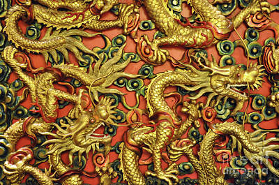 Photograph - Chinese Dragons by Josephine Cohn