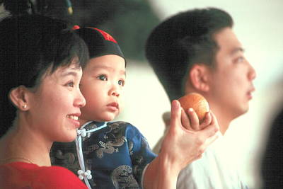 Art Print featuring the photograph Chinese Family by Douglas Pike