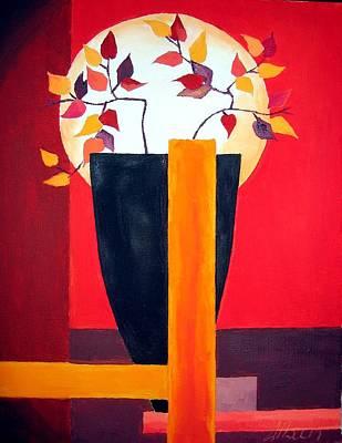 Figurativ Painting - Chinese Flower On Vase by Alban Dizdari