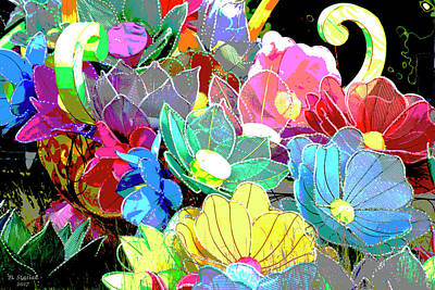 Digital Art - Chinese Flowers by David Stasiak
